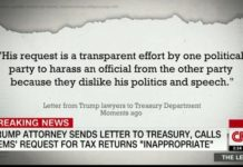 Trump's lawyers call request for tax returns 'inappropriate'