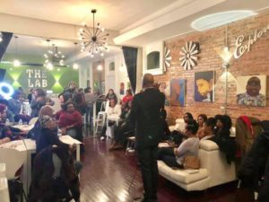 Black Women of all ages attend Dating in the Ville at TheLab Nashville. (Photo by: Jason Luntz)
