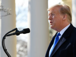 President Donald Trump said Friday he will sign a national emergency declaration to address the situation on the southern border, while claiming that his actions are consistent with those of his predecessors. (Photo by: Susan Walsh/AP)