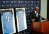 The Tennessee Titans announce they are retiring the jersey numbers of franchise legends Eddie George and Steve McNair. (Photo by: Tennessee Titans | Donald Page)