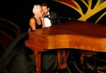 """Lady Gaga and Bradley Cooper perform """"Shallow"""" from """"A Star Is Born."""""""