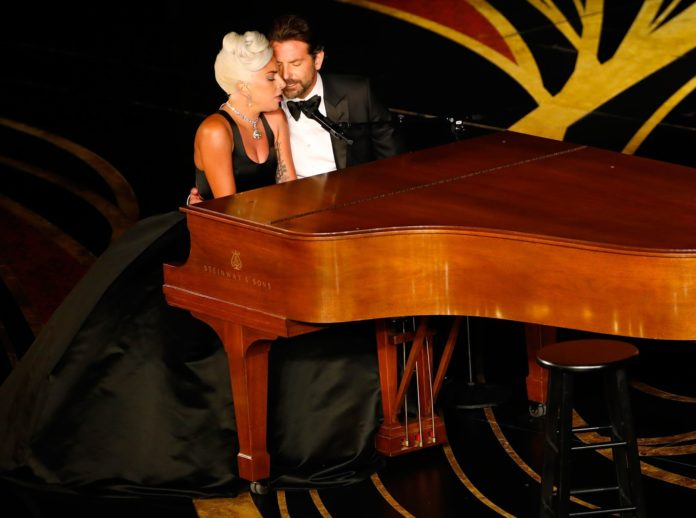 Lady Gaga and Bradley Cooper perform