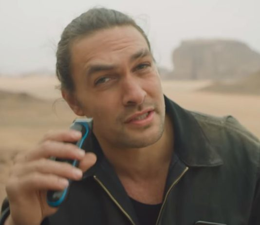 Jason Momoa on April 17, 2019, shared a video of him shaving on YouTube.
