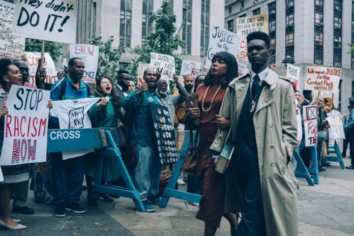 A scene from When They See Us on Netflix.