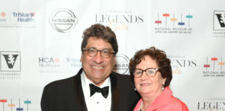 NASHVILLE, TENNESSEE - JUNE 27: Nicholas S. Zeppos and Lydia Howarth attend The Celebration of Legends Gala 2019 at Music City Center on June 27, 2019 in Nashville, Tennessee. (Photo by Jason Kempin/Getty Images for the National Museum of African American Music)