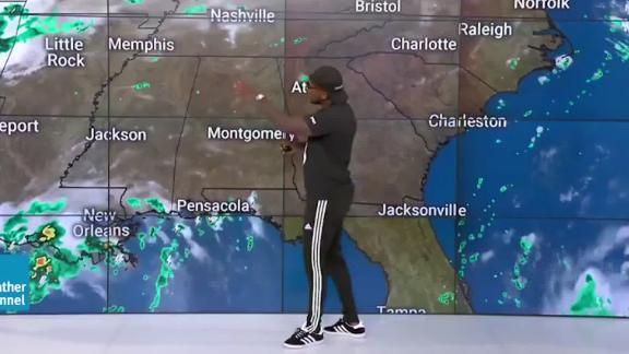 Atlanta-based rapper Jeezy, aka the Snowman, made a guest appearance on the Weather Channel, also located in Atlanta, to promote his new album,