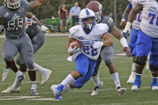 TSU Running back Seth Rowland Provides life for offense. (Photo by: Tennessee State Athletics)