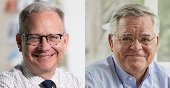 Mayor David Briley (left) faces a runoff against Councilman John Cooper in September.