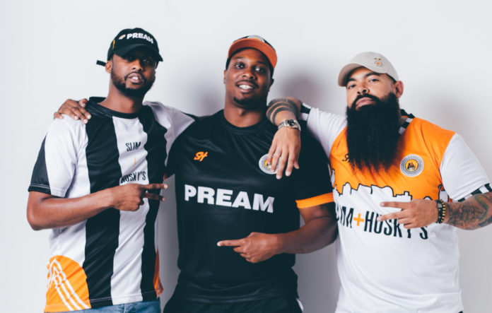 (l-r) Emanuel Reed, Derrick Moore, and Clint Gray founded Slim & Husky's Pizza Beeria in 2017
